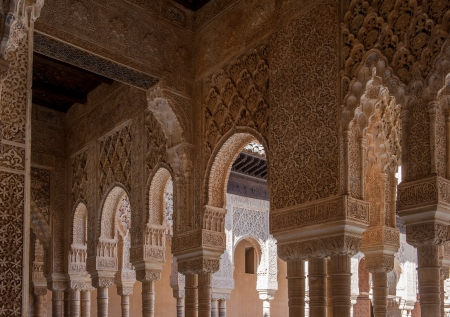 Interior of Alhambra Palace, Granada, Spain photo