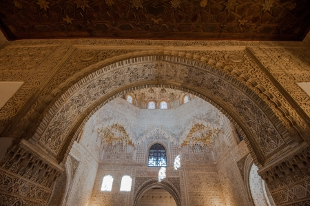 Interior of Alhambra Palace, Granada, Spain Stock Photo - 14141269