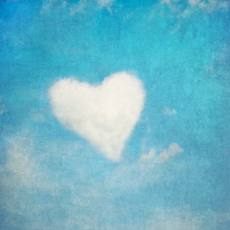 heart shaped cloud, perfect valentines day background  Stock Photo