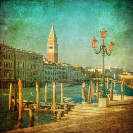 venezia: Vintage image of Grand Canal, Venice Stock Photo
