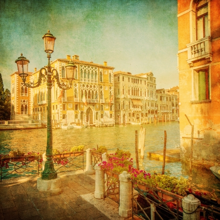 Vintage image of Grand Canal, Venice photo