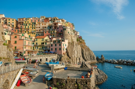 liguria: Village of Manarola, Cinque Terre, Italy Editorial