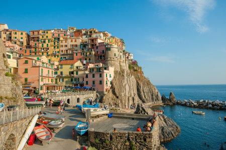 cinque terre: Village of Manarola, Cinque Terre, Italy Editorial