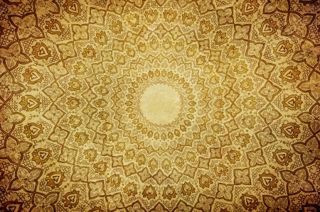 arabic architecture: gringe background with oriental ornaments
