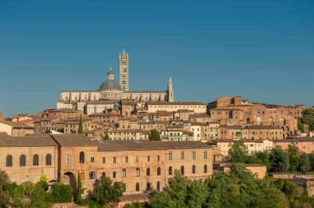 siena: Panorama of Siena, Tuscany, Italy Stock Photo