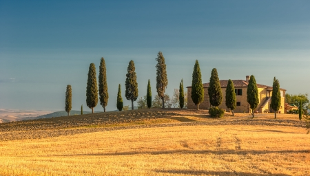 toscana: image of typical tuscan landscape Stock Photo