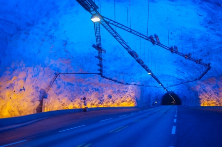 longest: Laerdal tunnel, Norway, the longest road tunnel in the world