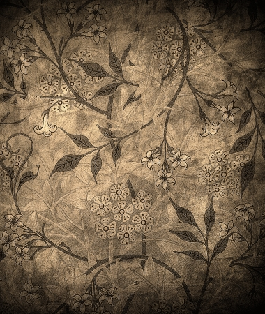 brown: highly detailed grunge floral background