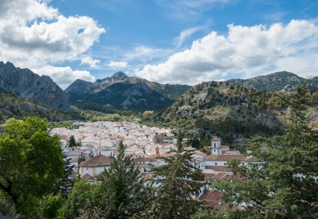 foothill: View of Grazalema village, Andalusia, Spain