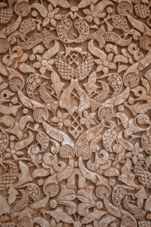 ceiling texture: Interior of Alhambra Palace, Granada, Spain