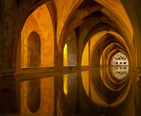 alcazar: Bath in Alcazar, Seville, Spain