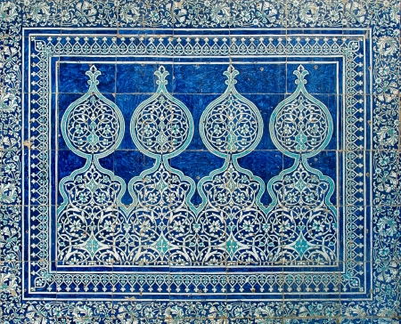 samarkand: Tiled background with oriental ornaments