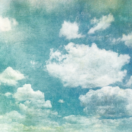 retro image of cloudy sky photo