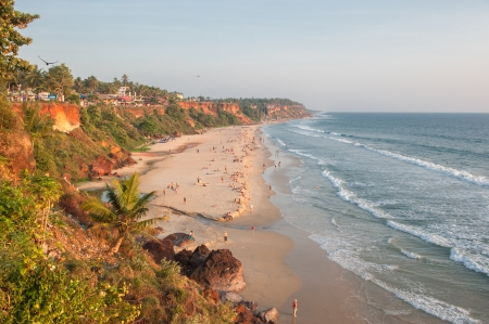 varkala: Varkala beach, Kerala, India