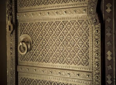 door knob: close-up image of ancient doors