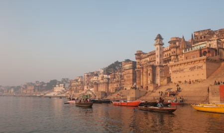 ganges: Holy city of Varanasi, India