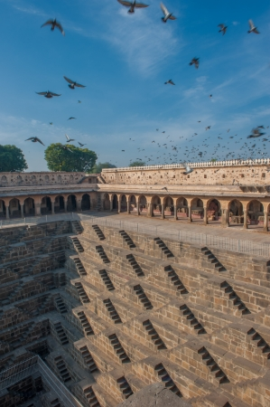 the deepest: Chand Baori, one of the deepest stepwells in India Stock Photo