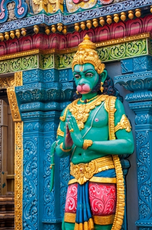 singapore culture: Hanuman statue at Sri Krishnan temple, Singapore