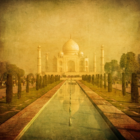 Vintage image of Taj Mahal, Agra, India photo