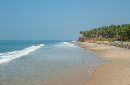 Varkala beach, Kerala, India photo