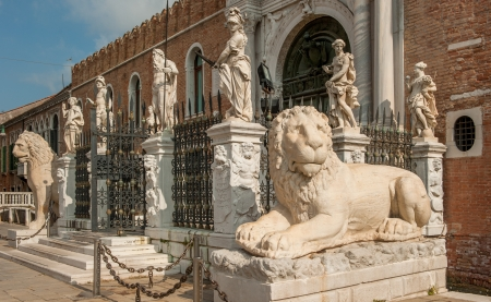The Porta Magna at the Venetian Arsenal, Venice, Italy photo
