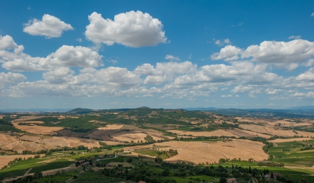 Panoramic view from Montepulciano, Tuscany, Italy Stock Photo - 18809168