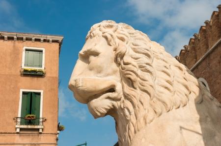 arsenal: Lion at the Venetian Arsenal, Venice, Italy Stock Photo