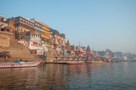 Holy city of Varanasi, India photo