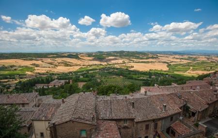 montepulciano: Panoramic view from Montepulciano, Tuscany, Italy