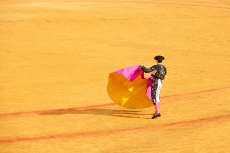 capote: Matadors at bullring Stock Photo
