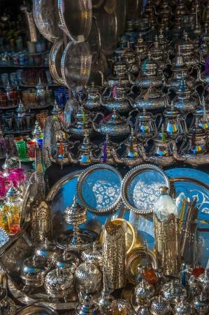 artisanal: traditional moroccan teapots