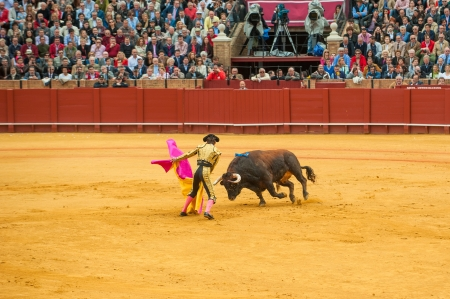 padilla: SEVILLE, SPAIN - April, 28: Matador Juan Jose Padilla at Maestranza bullring on April, 28, 2012 in Seville, Spain Editorial