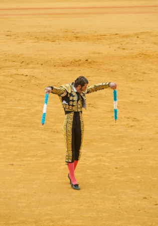 SEVILLE, SPAIN - April, 28: Matador Juan Jose Padilla at Maestranza bullring on April, 28, 2012 in Seville, Spain