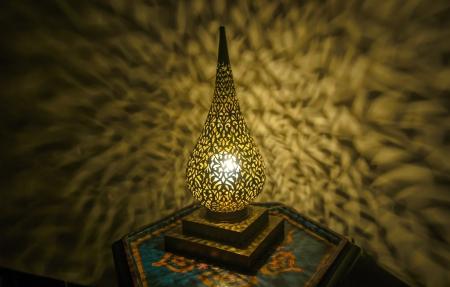 Moroccan antique lamp photo