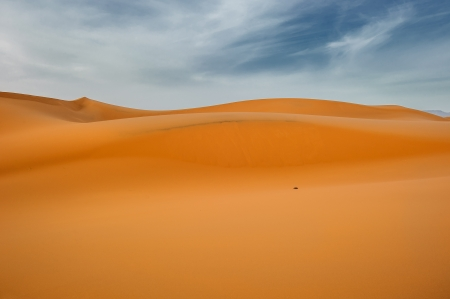erg: Sand dunes of Erg Chebbi, Morocco Stock Photo
