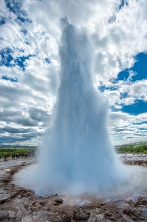 Strokkur geiser, IJsland Stockfoto