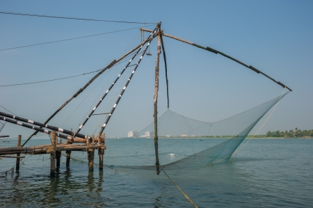 Chinese fishing nets, Kochi, India photo