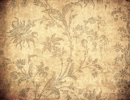 highly detailed grunge floral background  photo
