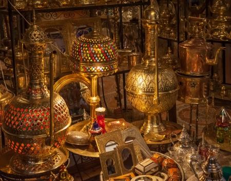 Moroccan antique shop photo