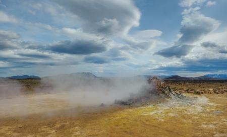 bubble acid: Hverarondor Hverir hot springs, Iceland
