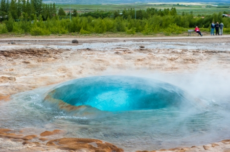 Strokkur geyser, Iceland photo