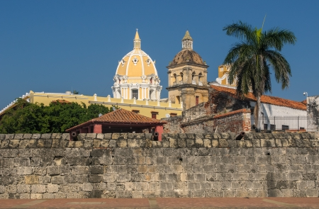 Walled town of Cartagena, Colombia photo