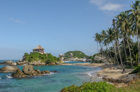 Cabo San Juan, Tayrona national park, Colombia Stock Photo