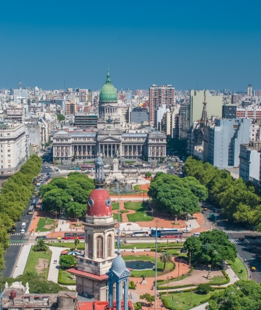 Panorama of Buenos Aires, Argentina Фото со стока