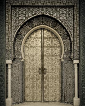 古代のドア、モロッコ 写真素材