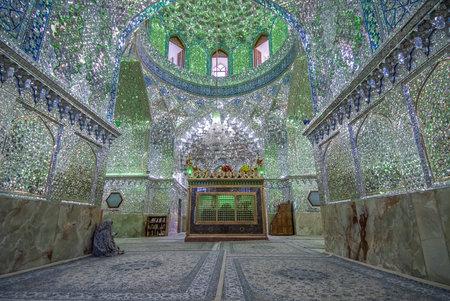 ibn: Mirrored interior of Ali Ibn Hamza shrine in Shiraz, Iran Editorial