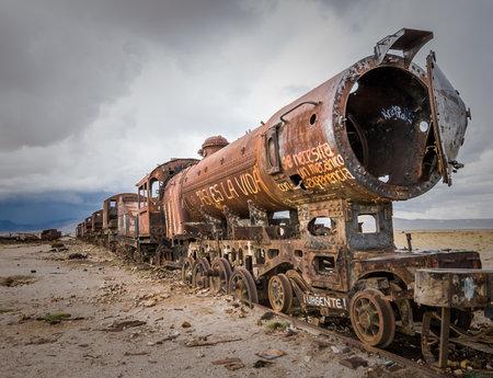 uyuni: Train cemetery, Uyuni, Bolivia Editorial