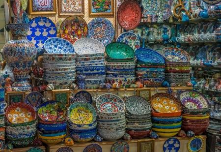 constantinople: Turkish ceramics at Grand Bazaar, Istanbul