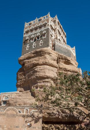 imam: Dar Al-Hajar Rock palace in Wadi Dahr, Yemen Editorial