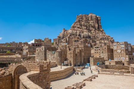 mud house: Thula ancient yemeni traditional village, Yemen